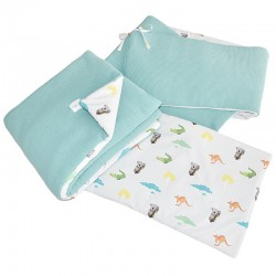 Knitted cot bedding set